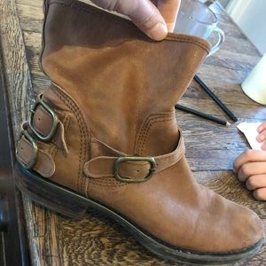 Lucky Brand Cognac Mid Boots